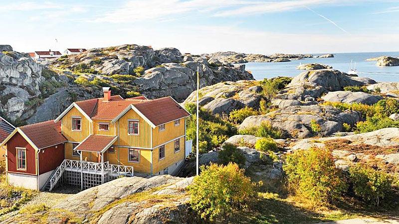Arkitekttegnet luksushus i Skärhamn til 12 personer