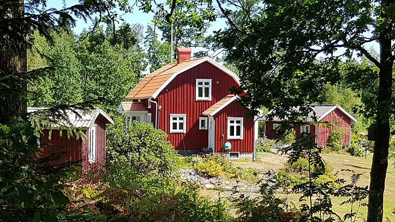 Hytte i Halland med kano og båd