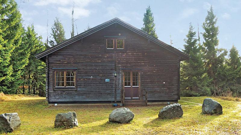 Bjælkehus i Halland til 10 personer