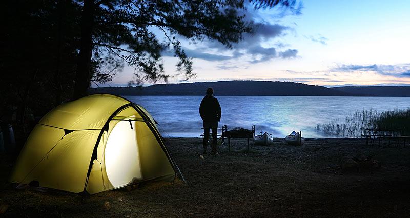 Tag på kanotur på Ivösjön