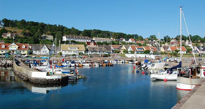 Hyggelige Arild på Kullabergs østlige side
