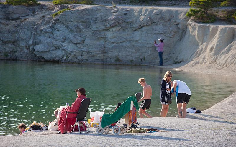Den blå lagune på Gotland