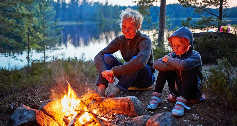 Camping midt i den svenske natur