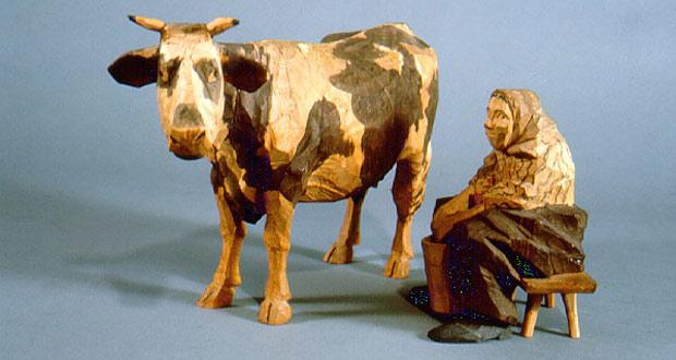 Figur lavet af Sveriges store træskærer Axel Robert Petersson kendt som Döderhultarn