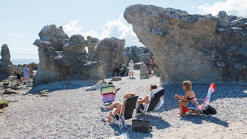Raukarne ved Folhammar på Gotland