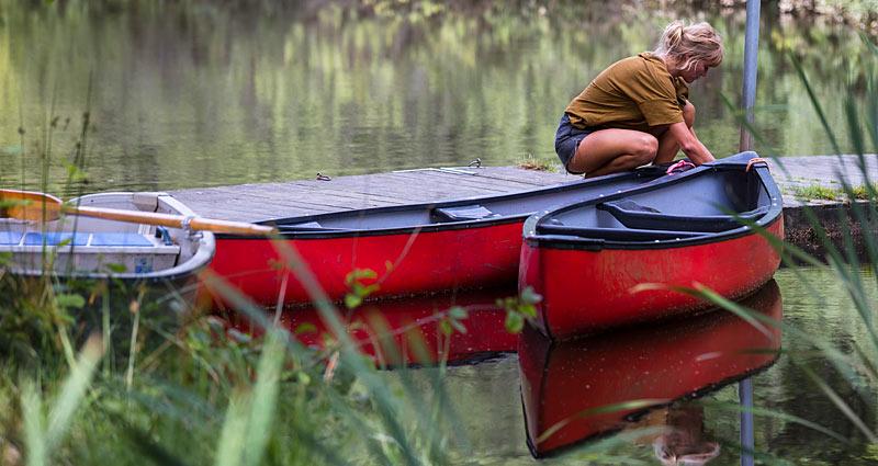 På kanotur i Sverige