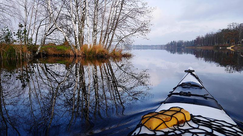 Kajaktur på Osbysjön i Skåne