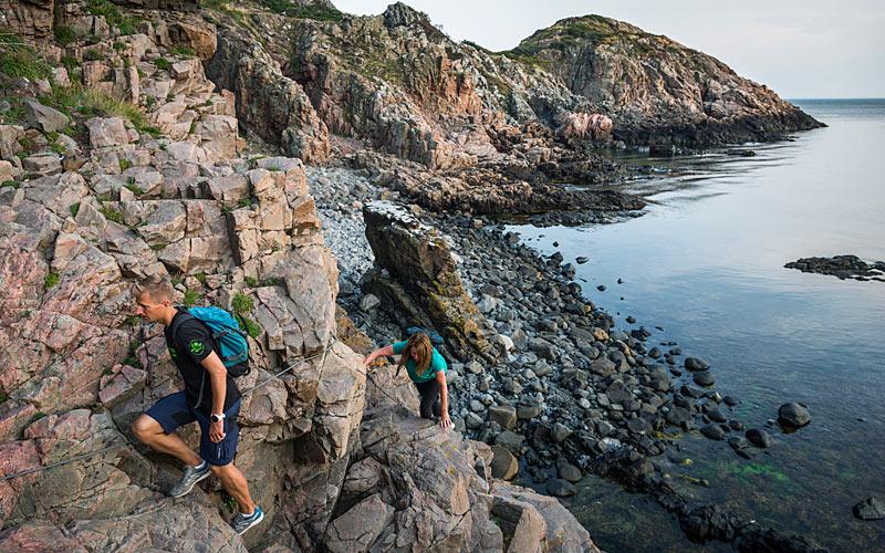Vandring på kysten ved Arild på Kullen