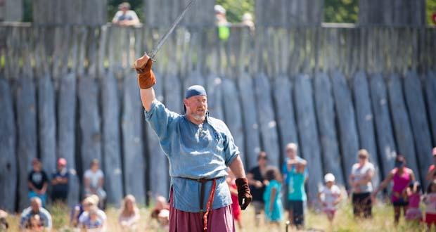 Vikingespil på Trelleborgen