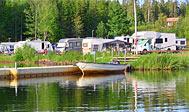 Målsånna camping og hytter ved Anebysjön i Småland