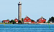Garpens fyr i Kalmarsund ved Øland