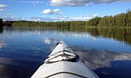 Kajaktur på søer ved Emmaboda