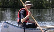 Kano på Ivösjön