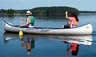 Kanotur på Lagaleden. Foto: Ulf Lundin/imagebank.sweden.se