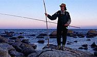 Kystfiskeri efter havørred i Österlen. Foto: skane.com © Kristian Nilsson