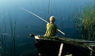 Lystfiskeri i Immeln. Foto: skane.com © sydpol.com