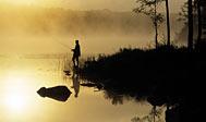Lystfiskeri i Tydingen. Foto: skane.com © sydpol.com