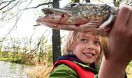 Lystfiskeri i Vombsjön. Foto: Ulf Lundin/imagebank.sweden.se