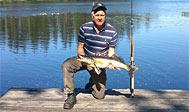 Lystfiskeri i søen Tjurken i Småland