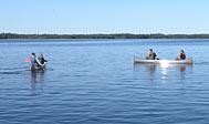 Lej tipi-boplads med kano i Småland, Sverige