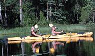 Padl kano eller kajak ad Lagaleden