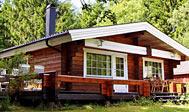 Lækker bjælkehytte i Småland, Sverige