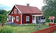 Svensk sommerhus med dejlig veranda ved Bösebo