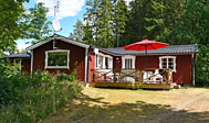 Feriehus ved Älmhult i Småland, Sverige