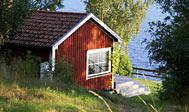 Fin lille hytte ved søen Nerbjärken i Småland