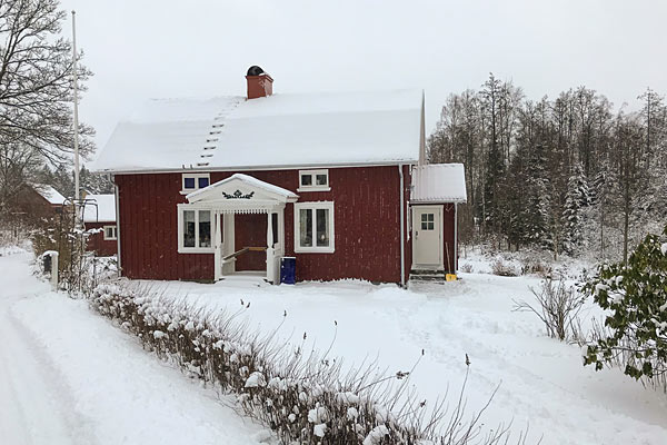 Hytte i Halland – vinter