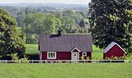 Landligt feriehus ved Vallåsen til leje