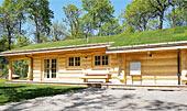 Fuldtømmerhus i moderne nordisk stil