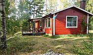 Sommerhus med udsigt over Vitasjön i Småland