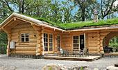 Wood Cabin - smuk bjælkehytte ved Hallandsåsen