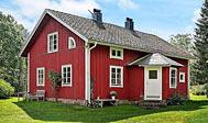 Ødegård i skoven til 10 personer vest for Skillingaryd i Småland