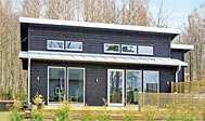 Nybygget sommerhus ved Bolmen i Småland