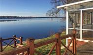 Sommerhus med søudsigt til 10 personer ved Värnamo i Småland